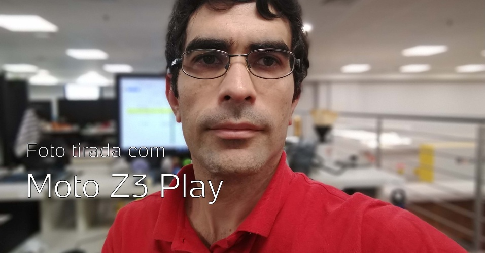 Foto tirada com câmera frontal do Moto Z3 Play