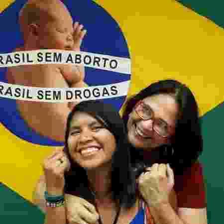 """A ministra da Mulher, da Família e dos Direitos Humanos, Damares Alves, e a filha """"adotiva"""", Kajutiti Lulu Kamayurá - Reprodução/Instagram"""