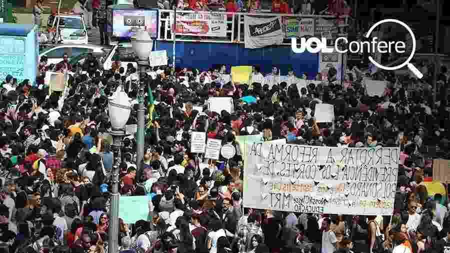 Arte UOL sobre fotografia de Wagner Souza/Futura Press/Estadão Conteúdo