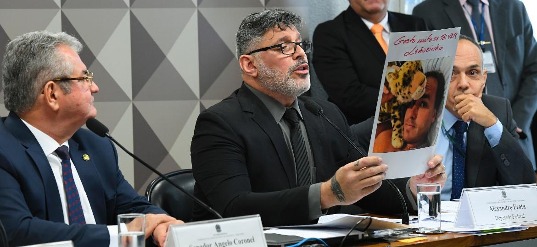 Alexandre Frota (PSDB-SP) depõe na CPI das Fake News, no Congresso Nacional - Roque de Sá/Agência Senado
