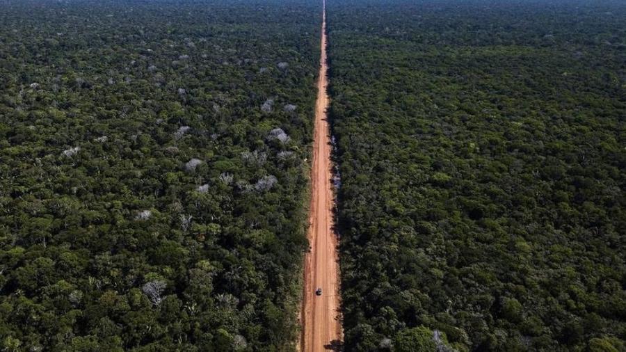 Com 885 km, a BR-319 foi construída em plena Floresta Amazônica e liga Manaus a Porto Velho - Divulgação/DNIT
