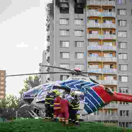 Prédio após incêndio em Bohumin, na República Tcheca - STRINGER/REUTERS
