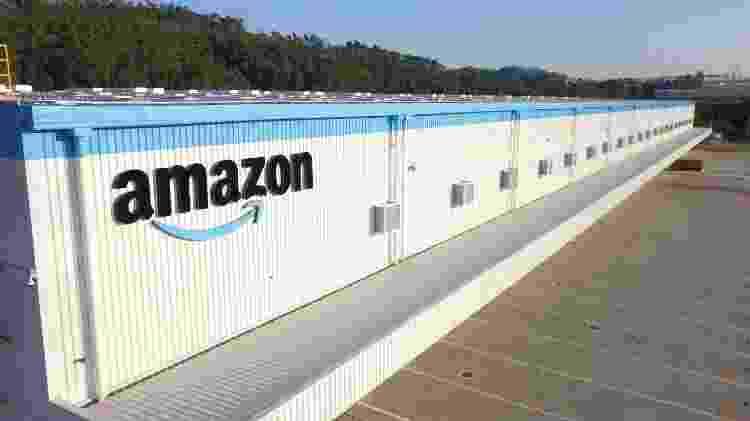 Logotipo da Amazon no segundo centro de distribuição da empresa em Cajamar (SP) - Divulgação - Divulgação