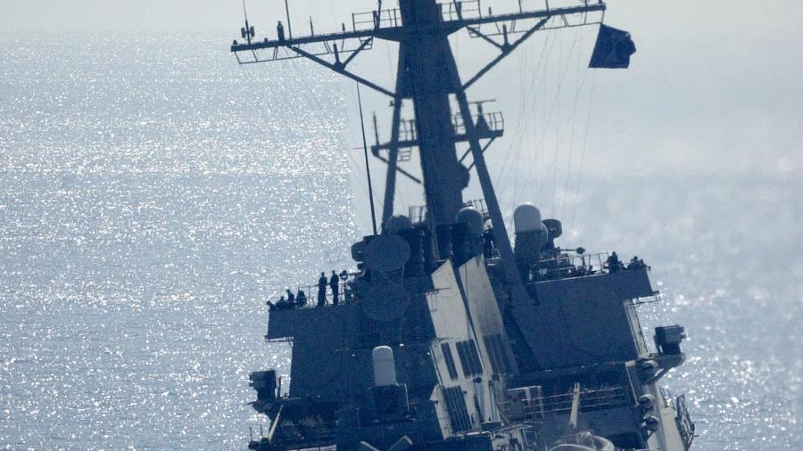 USS Curtir Wilbur, em foto de dezembro de 2001; EUA dizem que estão de acordo com as leis internacionais - US Navy/Getty Images