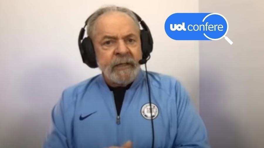 O ex-presidente Luiz Inácio Lula da Silva (PT) concede entrevista à rádio Jovem Pan de Aracaju - Reprodução/YouTube Lula