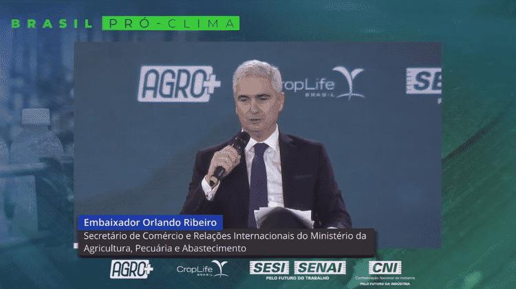 'Pressão internacional, sobretudo da União Europeia, veio após a conclusão das negociações do Acordo Mercosul-União Europeia', avaliou Ribeiro - Reprodução/Youtube - Reprodução/Youtube