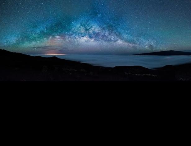 Fotografia da Via Láctea foi feita da montanha mais alta do Havaí, Mauna Kea