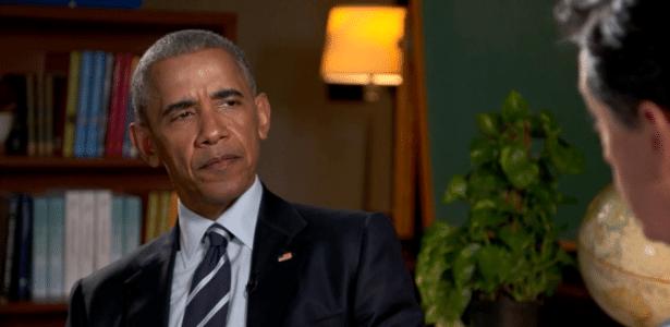 """Barack Obama participa do programa """"The Late Show"""", do apresentador Stephen Colbert"""