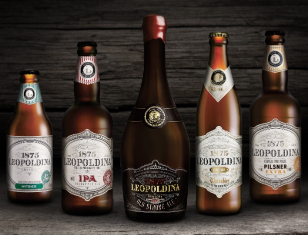 Cervejas artesanais da Cervejaria Leopoldina, do Rio Grande do Sul