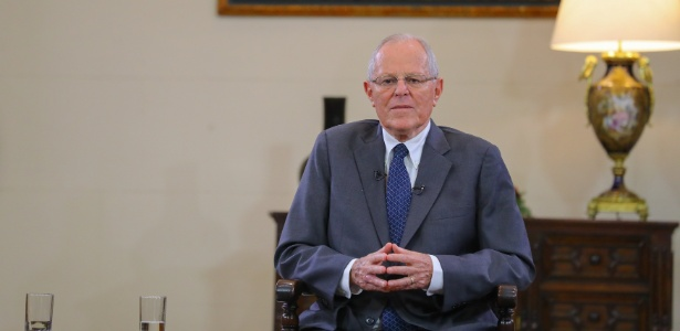17.dez.2017 - Pedro Pablo Kuczynski, presidente do Peru, no Palácio do Governo, em Lima - Peruvian Government Palace/Handout via Reuters