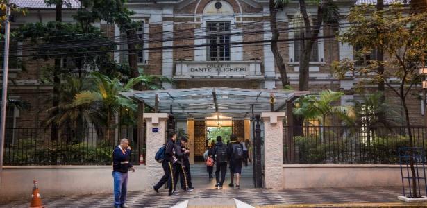 Fachada do colégio Dante Alighieri, em São Paulo