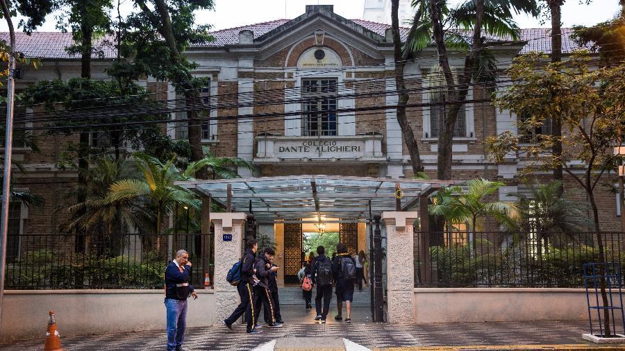 Fachada do colégio Dante Alighieri, em São Paulo - Alberto Rocha/Folhapress