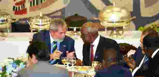 23.mai.2018 - Presidente Luiz Inacio Lula da Silva no Palacio do Itamaraty, durante Almoço oferecido ao presidente de Angola, José Eduardo dos Santos (23.jun.2010) -  Sérgio Lima/Folhapress -  Sérgio Lima/Folhapress