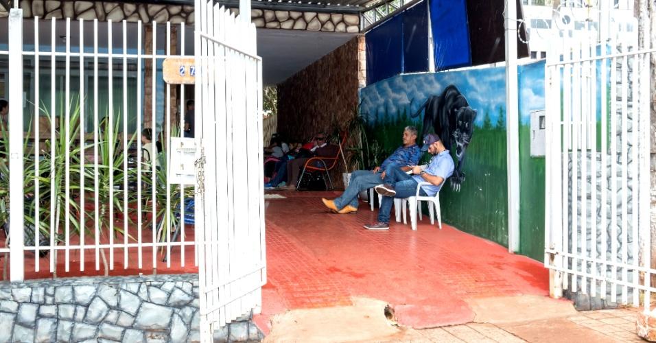 Entrada da Pensão Dom Aquino, em Campo Grande. Prefeituras bancam a estadia de seus pacientes na capital de Mato Grosso do Sul