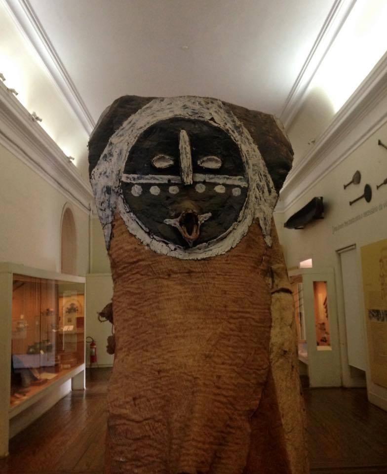 Máscara da exposição ?Etnologia Indígena Brasileira?, no Museu Nacional