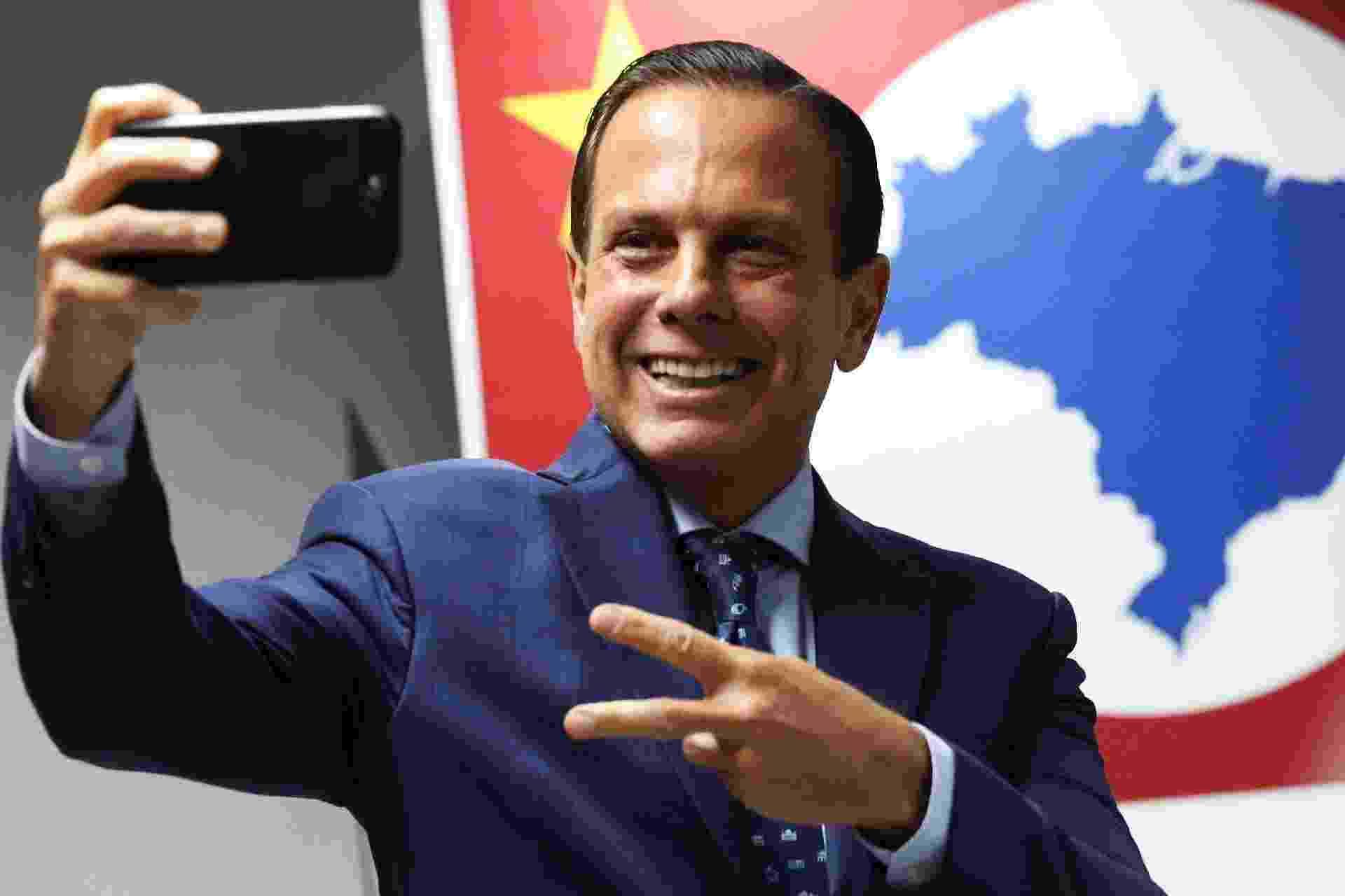 10.dez.2018 - O governador eleito de São Paulo, João Doria Jr. (PSDB), durante anúncio de futuros secretários, em São Paulo - Renato S. Cerqueira/Futura Press/Folhapress