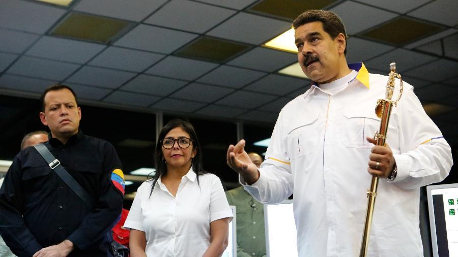 Nicolás Maduro visita usina hidrelétrica após blecaute na Venezuela. Interrupções na distribuição de energia viraram rotina no país - Palácio de Miraflores