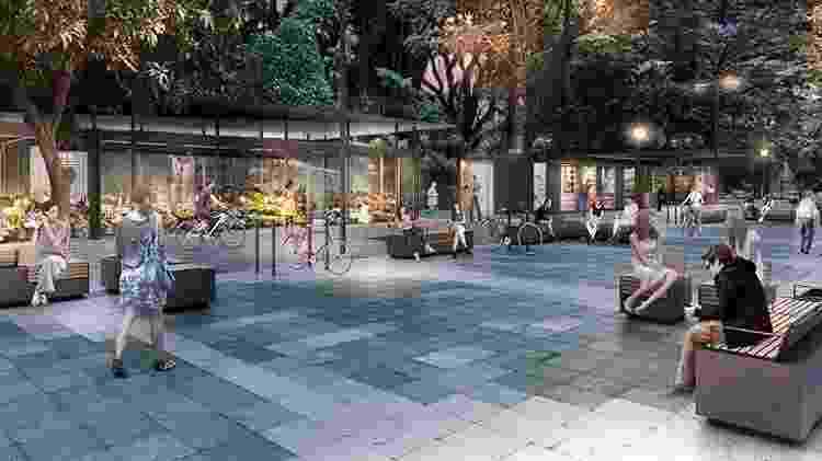 Prefeitura de São Paulo quer transformar largo do Arouche em boulevard - Prefeitura de São Paulo/Divulgação - Prefeitura de São Paulo/Divulgação