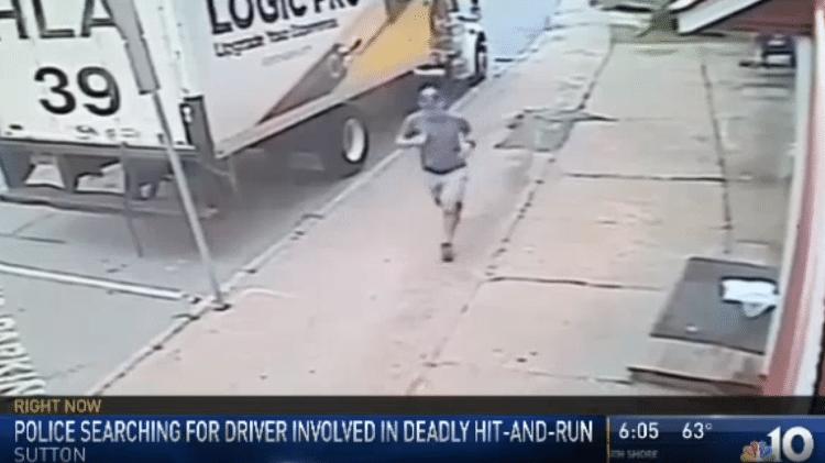 Câmera de segurança registrou Daniel de Lima correndo antes de ser atropelado - Reprodução/NBC