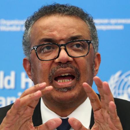 """Tedros Adhanom, da OMS: """"Nunca, na história da saúde pública, a imunidade coletiva foi utilizada como estratégia para responder a uma epidemia, muito menos a uma pandemia"""" - Reuters"""