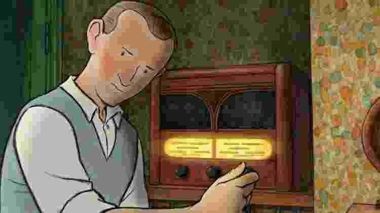 Ethel e Ernest: rádio foi instalado em lugar estratégico  - Reprodução - Reprodução