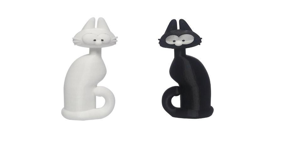 Os personagens Gato e Gata, de Laerte, em versão 3D - Reprodução/ ugrapress.com.br