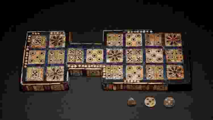 O Jogo Real de Ur é um exemplo requintado do jogo de 20 casas de 2.600-2.300 a.C. - The Trustees of the British Museum/ CC BY-NC-SA 4 - The Trustees of the British Museum/ CC BY-NC-SA 4