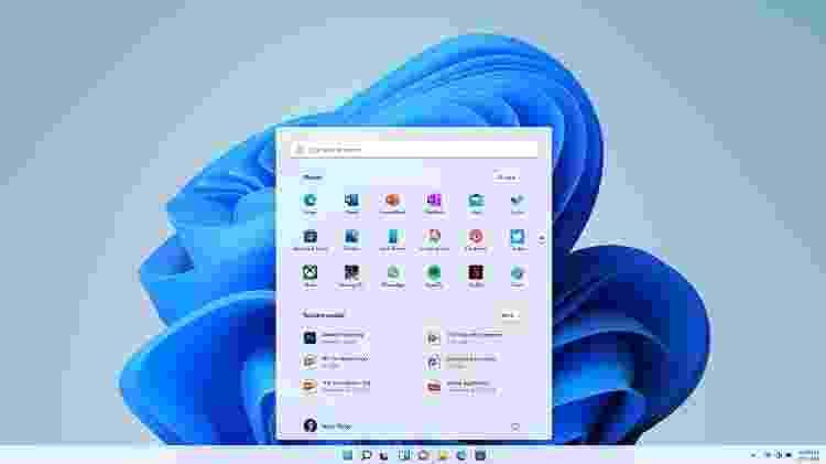 Menu Iniciar do Windows 11 será centralizado e não terá mais os Blocos Dinâmicos que estrearam no Windows 8 - Divulgação - Divulgação