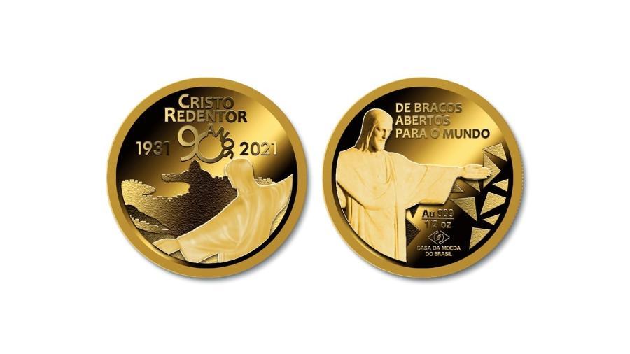 Casa da Moeda lança medalha em comemoração aos 90 anos do Cristo Redentor  - Divulgação/Casa da Moeda do Brasil