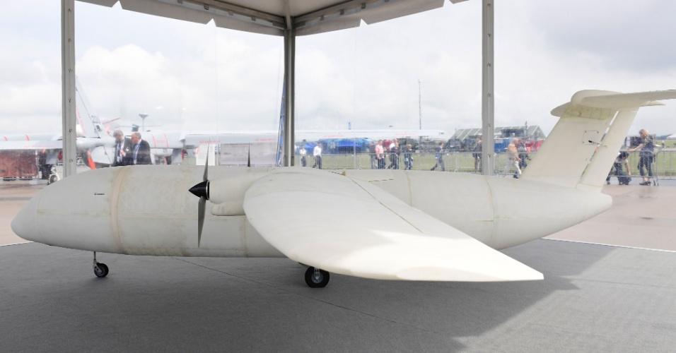 1.jun.2016 - O Thor é um avião da Airbus feito a partir de uma impressora 3D. Ele foi exibido no International Aerospace Exhibition (ILA) Berlin Air Show, na Alemanha