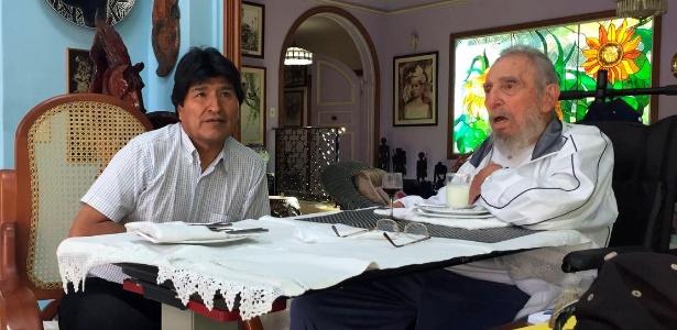 Evo Morales visitou Fidel Castro na semana passada