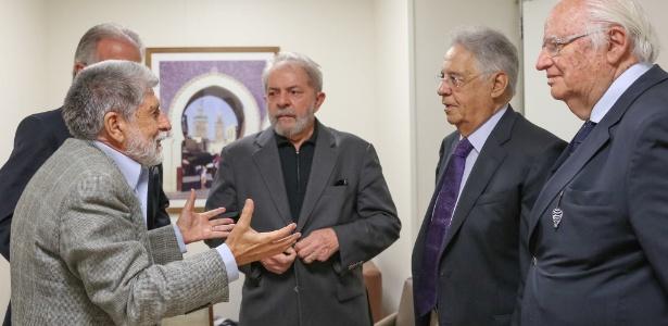 Lula recebeu diversos amigos e políticos entre quinta e sexta, entre eles o também ex-presidente FHC - Roberto Stuckert/Instituto Lula/Divulgação