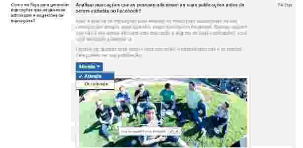 Remoção marcação Facebook - 6 - Reprodução - Reprodução