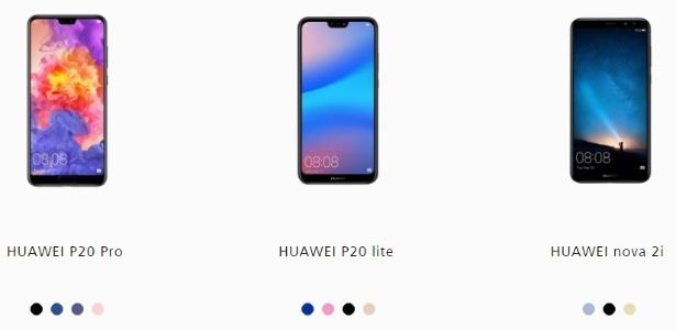 Além do P20 Pro, a Huawei pode trazer para o Brasil o P20 lite e o nova 2i