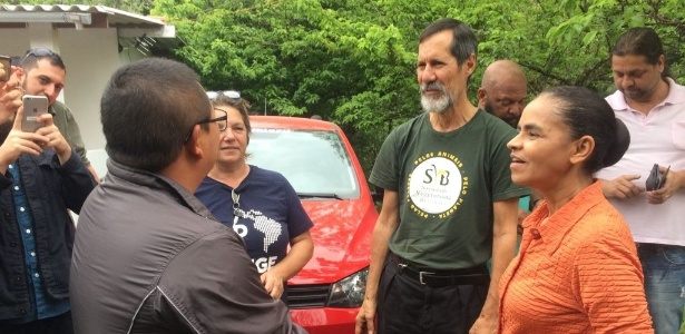 Marina Silva e Eduardo Jorge se encontram com agricultores