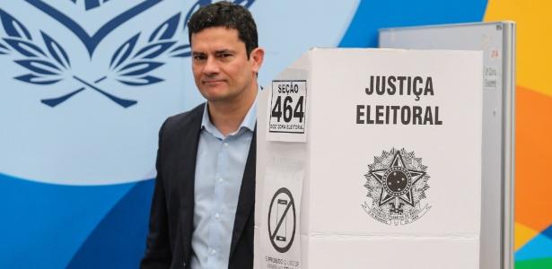 O juiz federal Sergio Moro votou em Curitiba (PR) no segundo turno