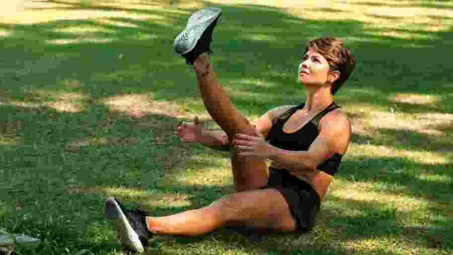 A personal trainer Carina Rosin usa o WhatsApp para colocar suas clientes para treinar - Arquivo pessoal