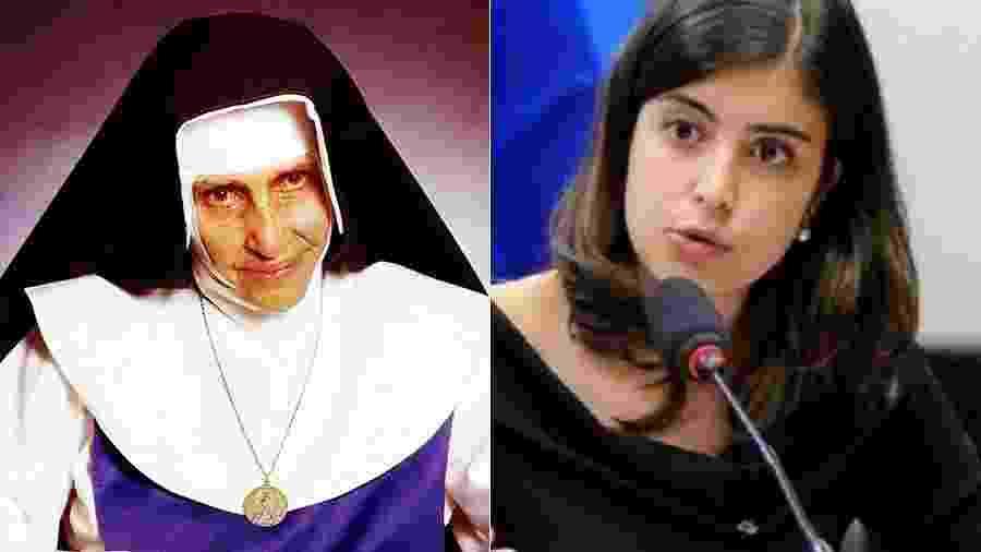 Canonizada pelo papa Francisco, Irmã Dulce foi tema de publicação de Tabata, que relacionou a santa ao empreendedorismo - Anthony Roywoley/OSID/Divulgação / Agência Câmara - Montagem UOL