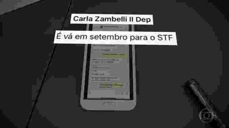 Print Moro x Zambelli 4 - Rede Globo/Reprodução - Rede Globo/Reprodução