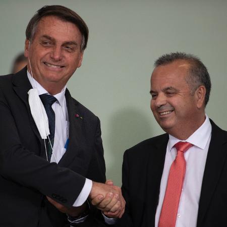 O presidente Jair Bolsonaro e o ministro do Desenvolvimento Regional, Rogério Marinho - Mateus Bonomi/Agif/Agência Estado