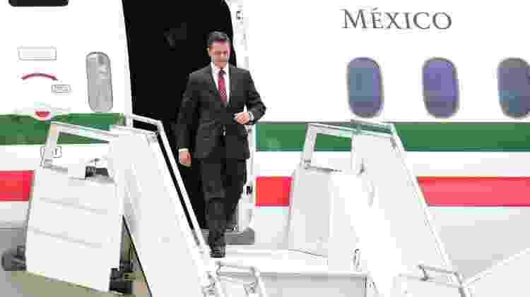 Presidente Enrique Peña Nieto recebe aeronave que foi comprada inicialmente pelo antecessor, Felipe Calderón - Getty Images - Getty Images