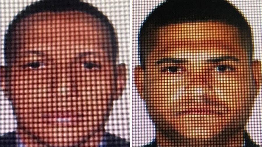 14.dez.2020 - O cabo Júlio César Ferreira dos Santos e o soldado Jorge Luiz Custódio da Costa foram presos preventivamente por suspeita de envolvimento na morte de dois jovens em Belford Roxo (RJ) - Arte/UOL