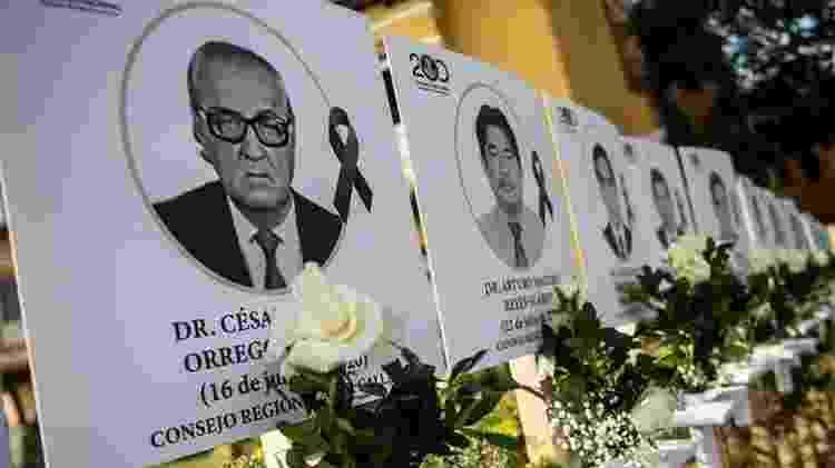 O Conselho Médico Peruano diz que mais de 230 médicos morreram de covid-19 desde o início da pandemia - Getty Images - Getty Images