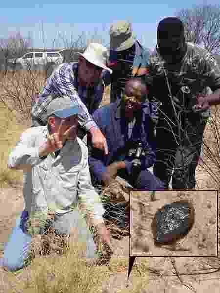 Meteorito de 2018 encontrado no deserto de Kalahari, em Botsuana - Divulgação/SETI Institute - Divulgação/SETI Institute