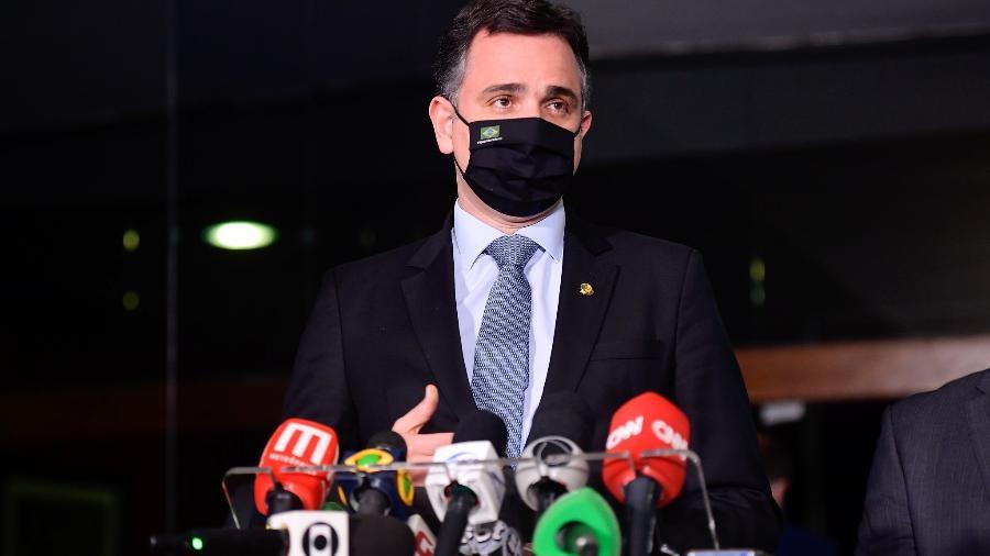Presidente do Senado, Rodrigo Pacheco, faz pronunciamento à imprensa - Marcos Brandão/Senado Federal