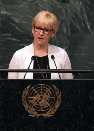 Margot Wallström, chanceler da Suécia - Timothy A. Clary/AFP