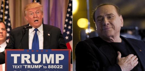 Donald Trump e Silvio Berlusconi: trajetórias parecidas? Quem sabe...