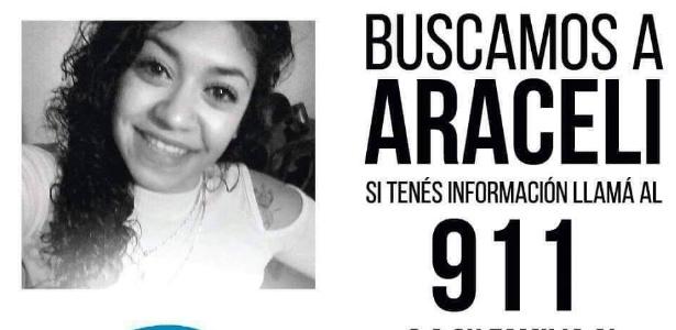 Pedido de informação sobre o paradeiro de Araceli Fulles, na Argentina - Facebook/Reprodução