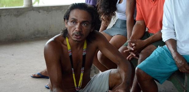 4.mai.2017 - Inaldo Gamela, autodeclarado da etnia gamela e um dos que buscam a posse de terras que seriam dos índios