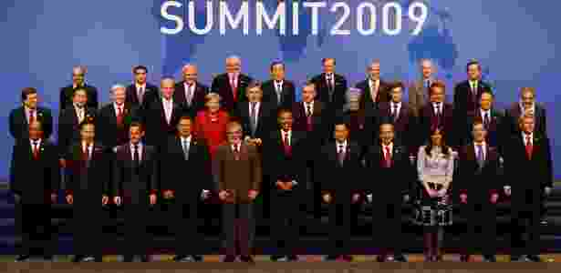 25.set.2009 - Foto oficial da cúpula do G20 em Pittsburgh (EUA) -  John Moore/Getty Images/AFP -  John Moore/Getty Images/AFP